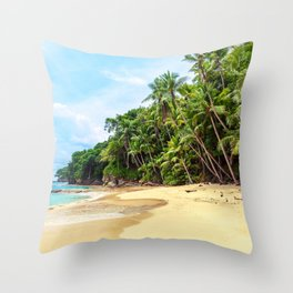 Tropical Beach - Landscape Nature Photography Throw Pillow