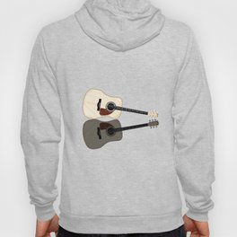 Pale Acoustic Guitar Reflection Hoody