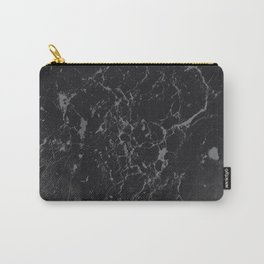 Gray Black Marble #1 #decor #art #society6 Carry-All Pouch
