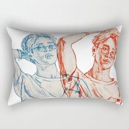 Jimin red and blue Rectangular Pillow