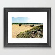 Peaking. Framed Art Print