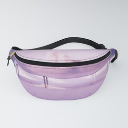 Purple winter city Fanny Pack
