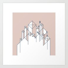#345 For here we have no lasting city, but we seek the city that is to come. – Geometry Daily Art Print