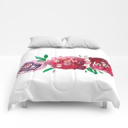 Three Red Christchurch Roses Comforters