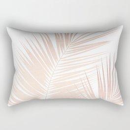 Rose Gold Palm Leaves Dream - Cali Summer Vibes #1 #tropical #decor #art #society6 Rectangular Pillow