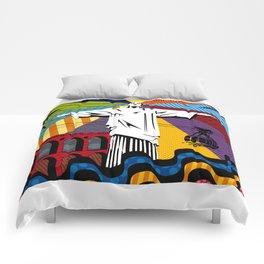 Cristo Redentor Comforters