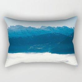 Swiss Alps Above Sea of Fog Rectangular Pillow
