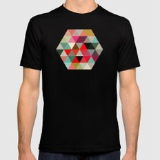 Geo Hex 03. Mens Fitted Tee Black SMALL