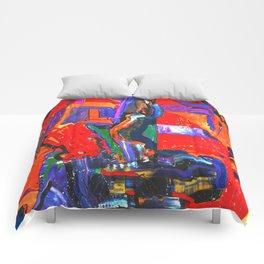 Metropolis Öl auf Leinwand Comforters