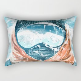 climber in the everest Rectangular Pillow
