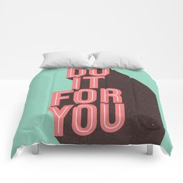 Do It For You inspirational typography poster motivational wall art bedroom home decor Comforters