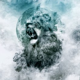 Framed Art Print - Lion Blue - RIZA PEKER