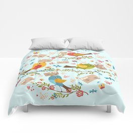 Special Springtime Delivery From Little Birds Pattern Comforters