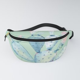 Rose Desert Cactus Light Mint Green by Nature Magick Fanny Pack