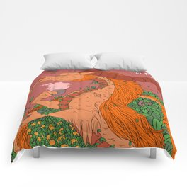 Orange Tea Dragon Comforters