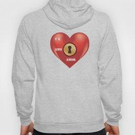 a heart in love Hoody