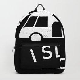 I sleep around | Funny Motorhome Gift Backpack