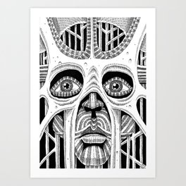 Masquarade Art Print