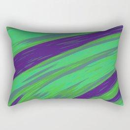 Green Blue Swish Abstract Rectangular Pillow