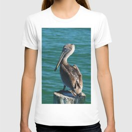Pelican On A Pole T-shirt