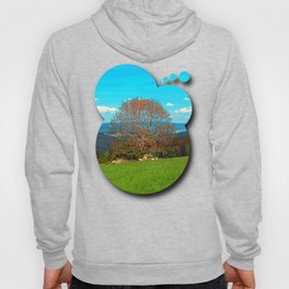 Lonely old tree in springtime scenery Hoody