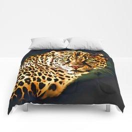 Leopard Digital Painting Comforters