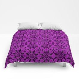 Dazzling Violet Floral Pattern Comforters