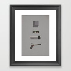 8-bit love (NES) Framed Art Print