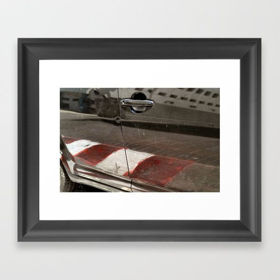 Forbidden Parking Framed Art Print