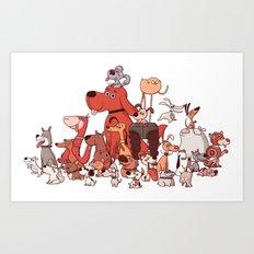 Good Dogs Art Print