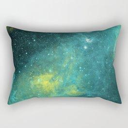 Interstellar Dust - Greenish Galaxy Space Rectangular Pillow