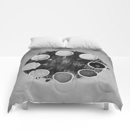 Coffee Circle (Black and White) Comforters