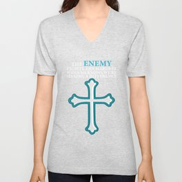 The enemy fights the hardest making a difference Disciple Gift Unisex V-Neck