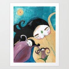 Sleeping Bhoomies Art Print