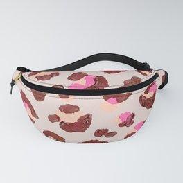 Leopard Print – Pink & Mauve Palette Fanny Pack