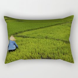Other day on the rice field Rectangular Pillow