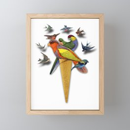 BIRDS ICE CREAM Framed Mini Art Print