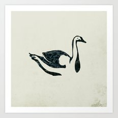 black swan song Art Print