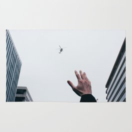 Helicopter Over DC Rug