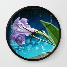 Water on the flower Wall Clock