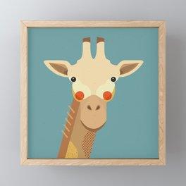 Giraffe, Animal Portrait Framed Mini Art Print