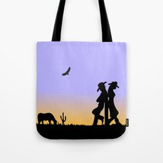 Western Cowboy and Cowgirl on the Range Tote Bag