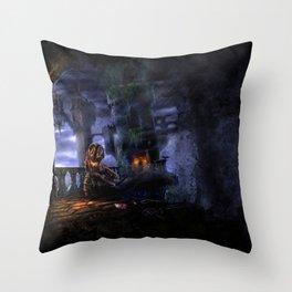 Castlevania: Vampire Variations- Bridge Throw Pillow