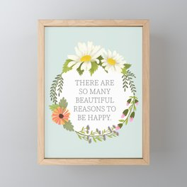 Beautiful Reasons Framed Mini Art Print