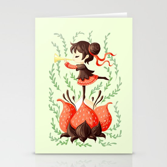 Spring Melody Stationery Cards