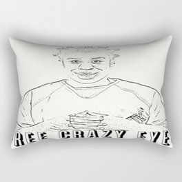 Free Crazy Eyes Rectangular Pillow