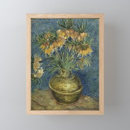 Fritillaries in a Copper Vase by Vincent van Gogh Framed Mini Art Print