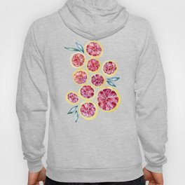 Sliced Grapefruits Watercolor Hoody