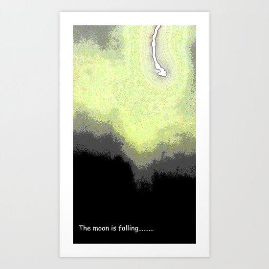 Falling Moon Art Print