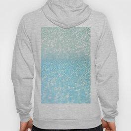Mermaid Sea Foam Ocean Ombre Glitter Hoody